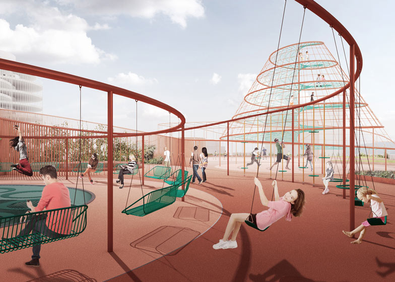 Park n Play car park by JAJA Architects