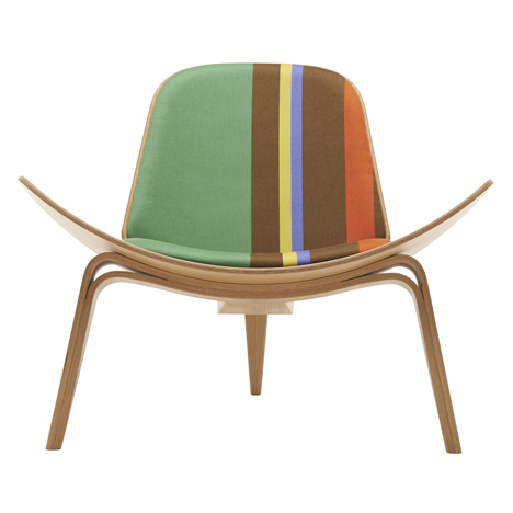 Paul Smith Upholsters Hans J Wegner Chairs In His Signature Stripes