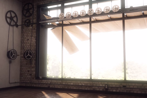 Kinetic louvres move in three dimensions to screen sunlight from any angle