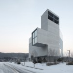 Nameless Architecture adds concrete church to growing Korean town