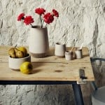 Recycled marble dust used to create simple homeware range by Francesca Gattello