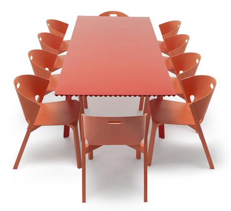 Ripple Table 2.0 by Benjamin Hubert