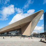 Rotterdam Centraal station reopens with a pointed metal-clad entrance
