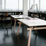 Stand table by Jakob Timpe slots together without glue or fixings