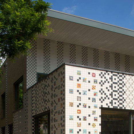 School in Rotterdam decorated with tiles based on traditional Dutch patterns_dezeen_12sq