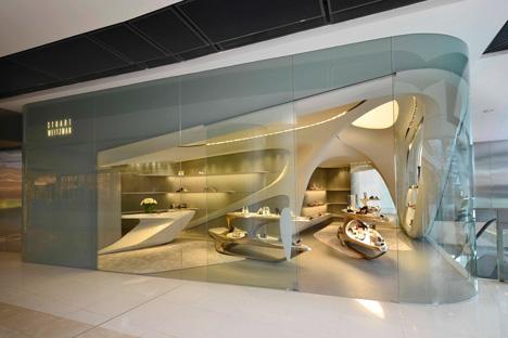 Stuart Weitzman boutique IFC Hong Kong by Zaha Hadid