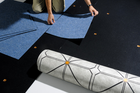 SensFloor conductive rug by Future-Shape turns the floor into a giant touchscreen