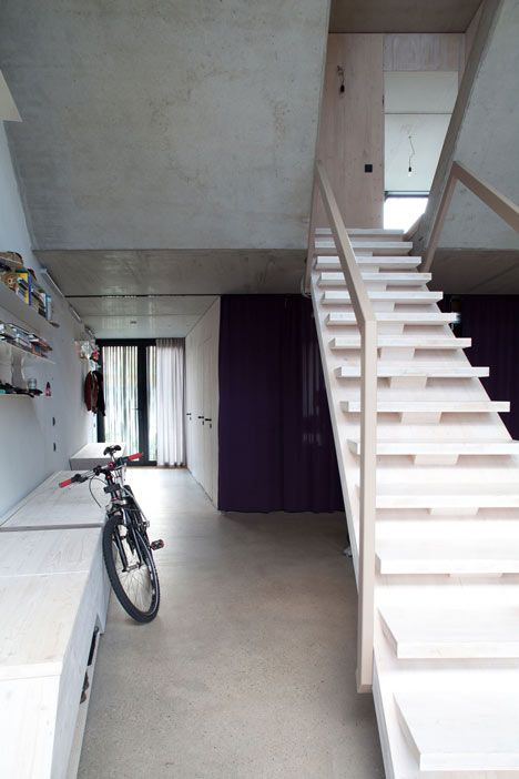 Townhouse B14 by XTH-berlin has slanted walls and doors