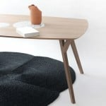 Martin Azua's Trees and Rocks table contrasts wood with marble