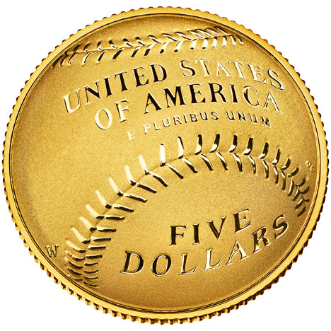 US Mint curved coins 2014 gold five dollars