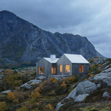 Vega Cottage by Kolman Boye Architects<br /> references weathered Norwegian boathouses
