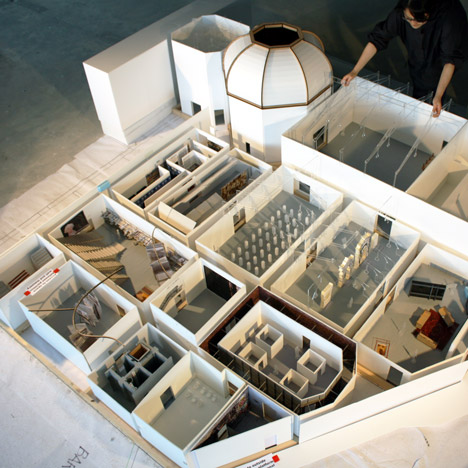 Model of the central pavilion at the Jardini for Rem Koolhaas' Venice Architecture Biennale 2014