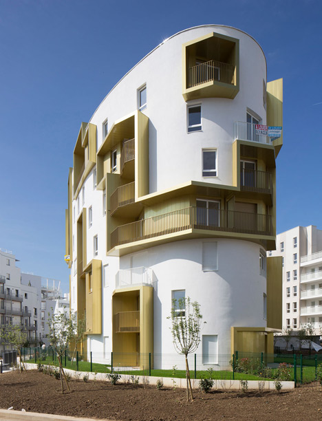 Franco-Prussian war site hosts block of flats by Guérin & Pedroza Architects