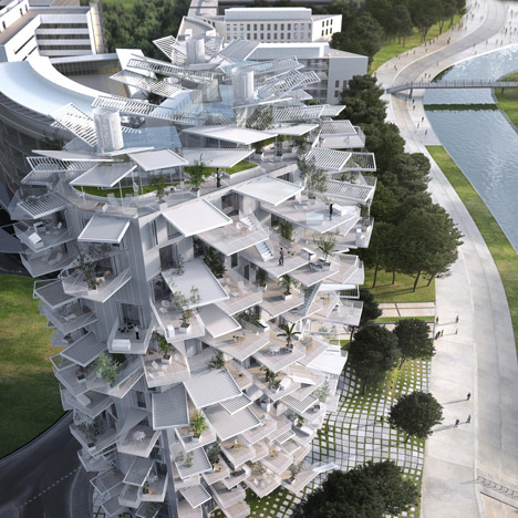 Sou Fujimoto designs nature-inspired tower for Montpellier