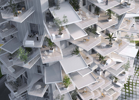 "Sou Fujimoto designs tree-inspired tower for Montpellier ""modern follies"" project"