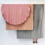 Glithero patterns fabric using organ music