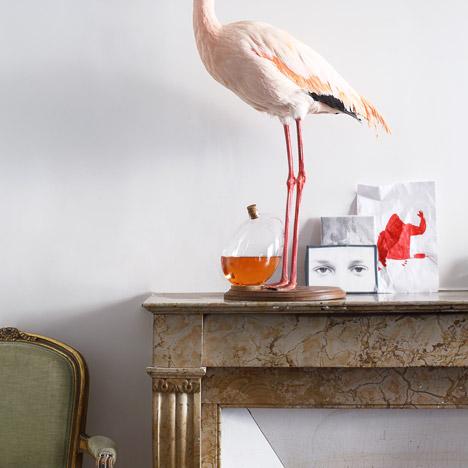 Sebastian Bergne says bottoms up with tilting egg-shaped decanter