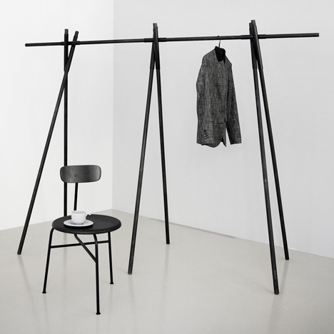 Afteroom presents three-legged chair and stackable table for Menu