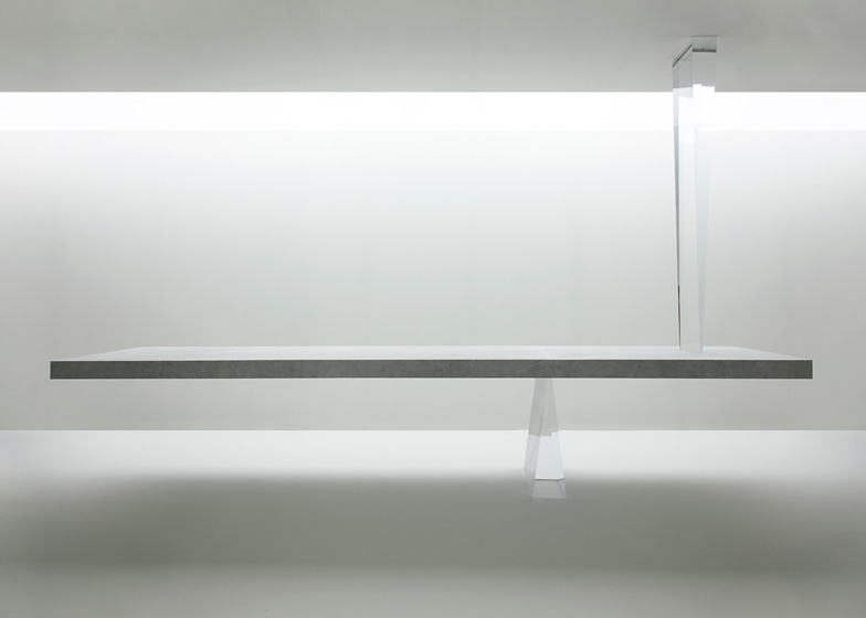 Agravic table by Tokujin Yoshioka