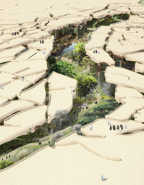 "Al Fayah Park by Thomas Heatherwick is a ""sunken oasis"" for Abu Dhabi"