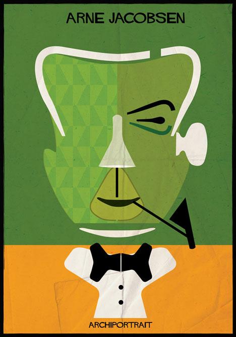 Arne Jacobsen Archiportrait by Federico Babina