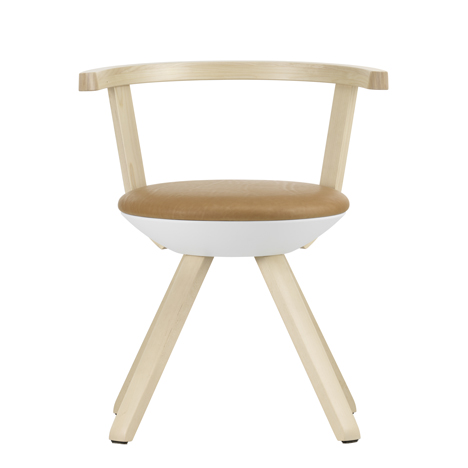 Konstantin Grcic's first design for Artek is a circular birch swivel chair