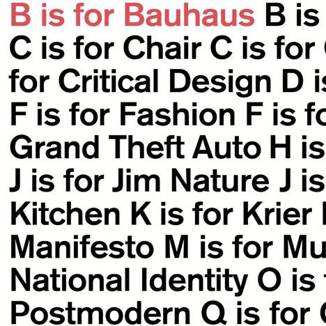 B is for Bauhaus by Deyan Sudjic competition