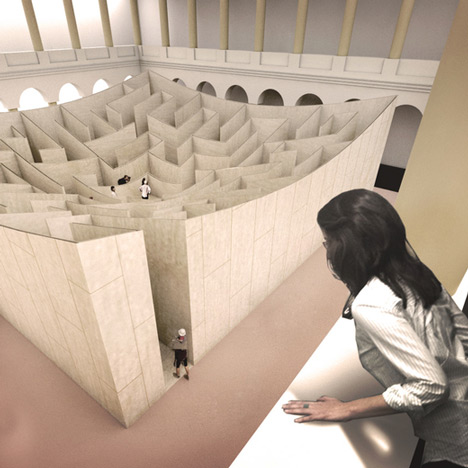 "Bjarke Ingels unveils ""BIG Maze"" for Washington's National Building Museum"