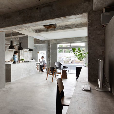 "Concrete apartment by Airhouse Design Office features display space for ""precious clothes"""