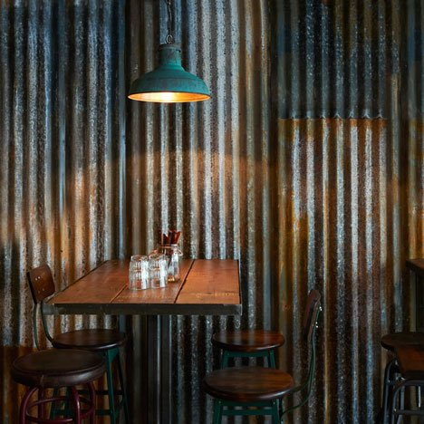 London restaurant by Brinkworth resembles a ramshackle farm building
