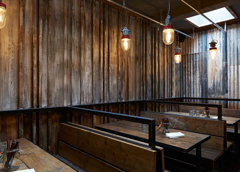 London Restaurant Resembling A Ramshackle Farm Building By