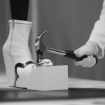 Benjamin John Hall takes a hammer to porcelain shoes during live event