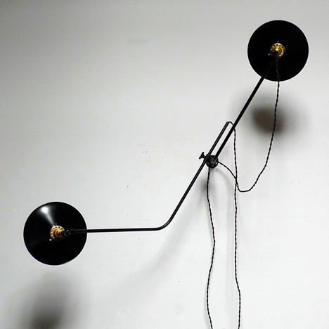 Bent wall lamp by Workstead