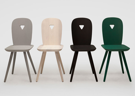 Casamania launches La-Dina chair by Luca Nichetto at Milan design week