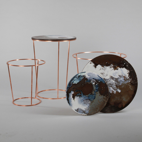 Ceramic tables by Elisa Strozyk
