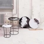 Swirling patterns top tables by Elisa Strozyk