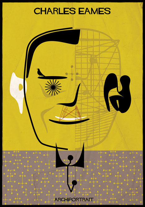 Charles Eames Archiportrait by Federico Babina