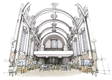 Church renovated into a restaurant in Antwerp by Piet Boon