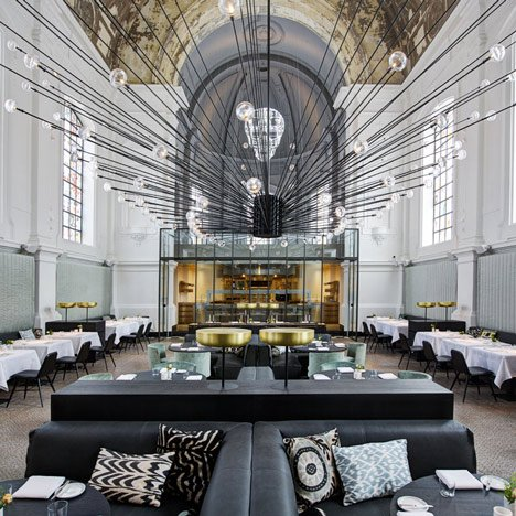 Military church in Antwerp reinvented<br /> as a restaurant by Piet Boon