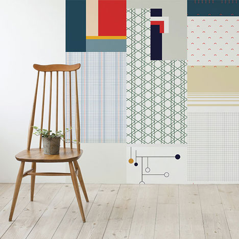 Cut and Paste Wallpaper by All The Fruits decorates rooms using random patterns