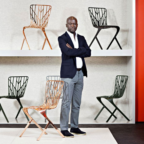 David Adjaye Washington chair chair collection for Knoll launched in Milan 2014