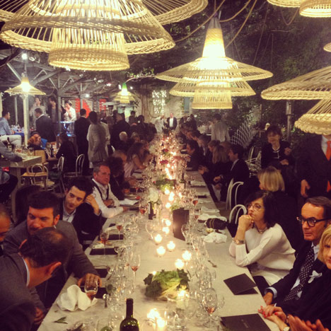 Dinner at Spazio Rosanna Orlandi