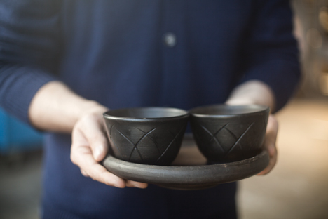 Luca Nichetto and Lera Moiseeva's ceramic tableware to launch at Spazio Rossana Orlandi