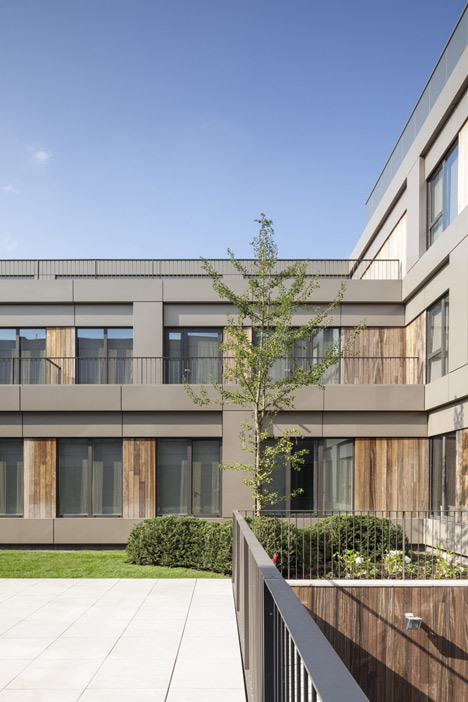 Areal Architecten's Mayerhof retirement home wraps around two courtyards