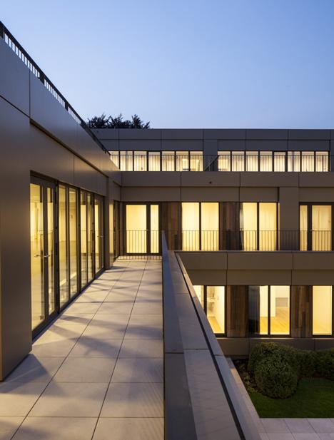 Areal Architecten's Mayerhof retirement home wraps around two courtyards