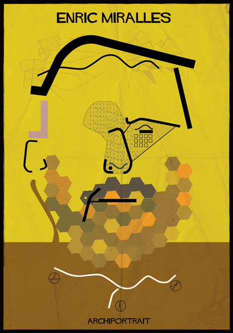 Enric Miralles Archiportrait by Federico Babina