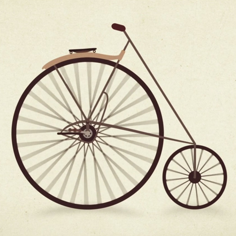 Watch the design evolution of the bicycle in a one-minute animation