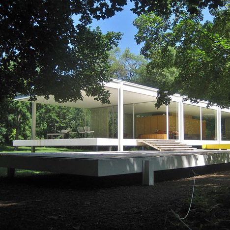 Hydraulic jacks could protect Mies van der Rohe's<br /> Farnsworth House from flood danger