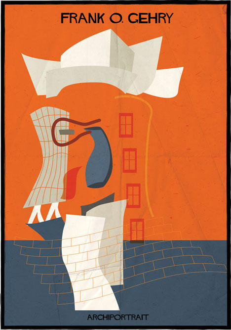 Frank O. Gehry Archiportrait by Federico Babina