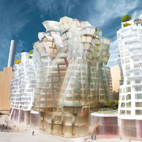 Gehry and Foster unveil designs for Battersea Power Station redevelopment _dezeen_1sq